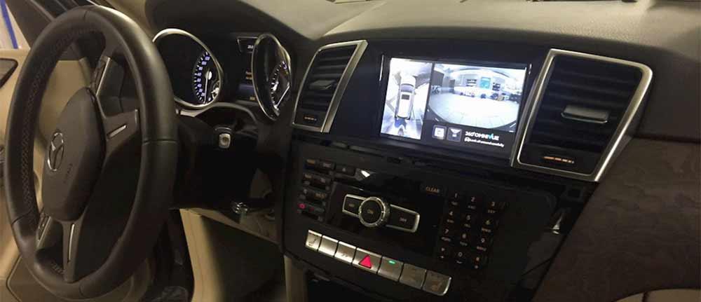 Установка камеры кругового обзора на Mercedes